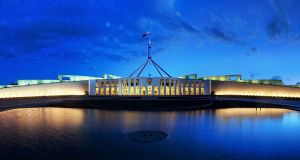 Parliament_House_Canberra_Dusk_Panorama