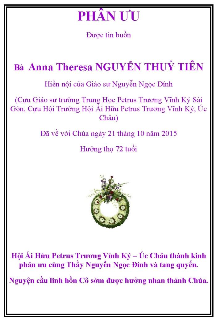 Anna Theresa Nguyen Thuy Tien - Phan Uu
