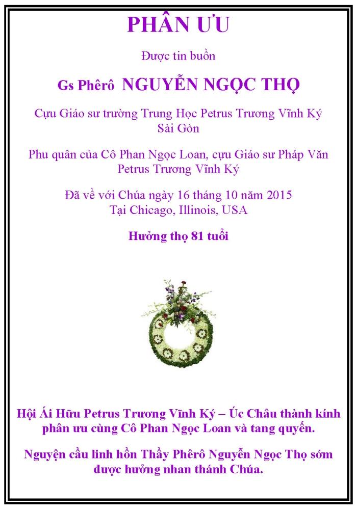 Nguyen Ngoc Tho - Phan Uu
