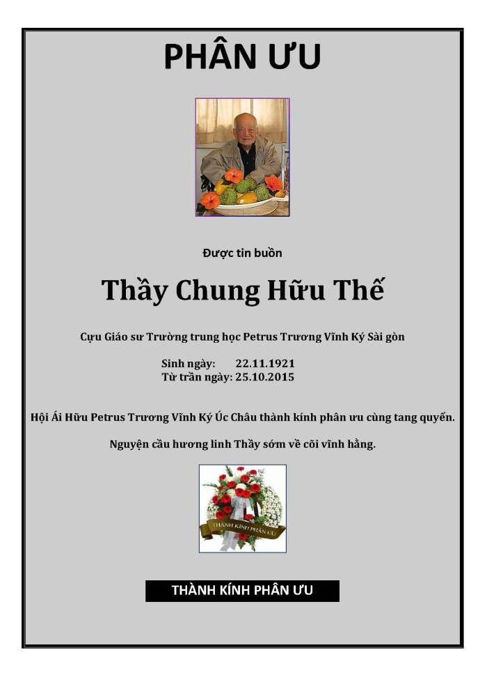Phan Uu - GS Chung Huu The