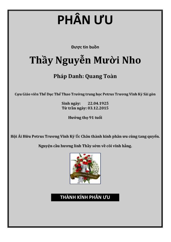 Phan Uu - GS Nguyen Muoi Nho