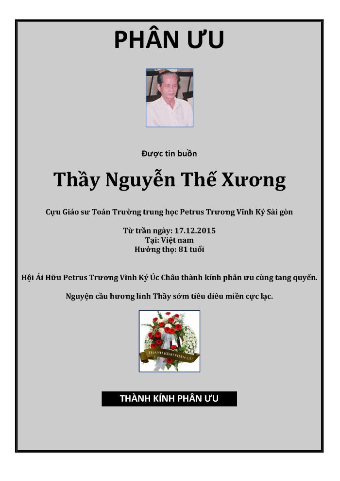Phan Uu - GS Nguyen The Xuong