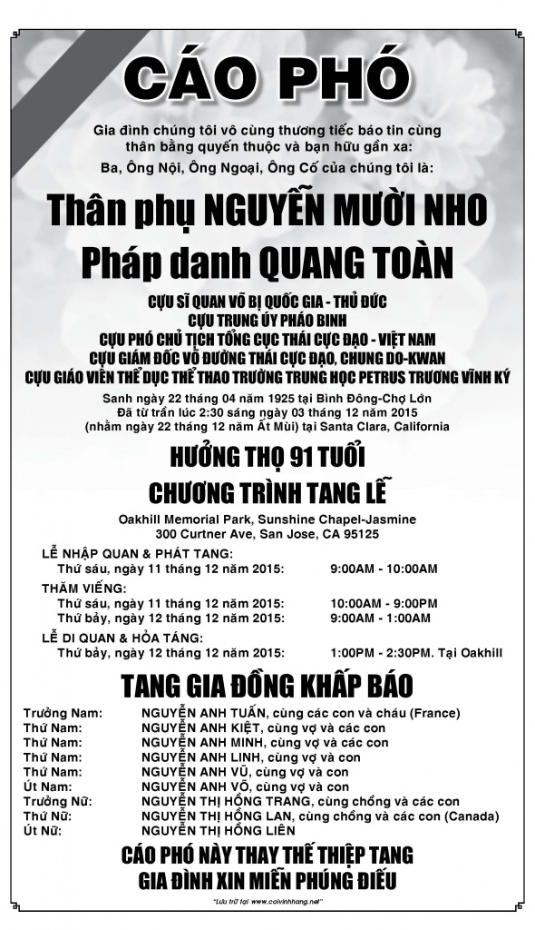Thay Nguyen Muoi Nho