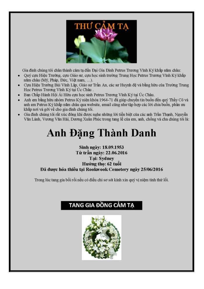 Cam Ta - Dang Thanh Danh