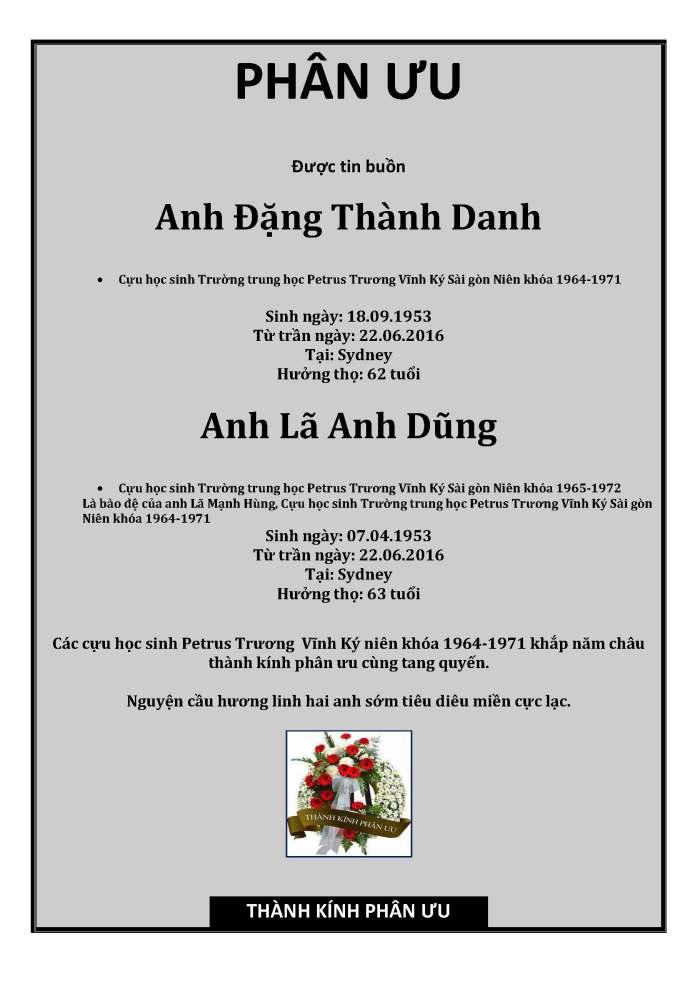 Phan Uu - Dang Thanh Danh - La Anh Dung
