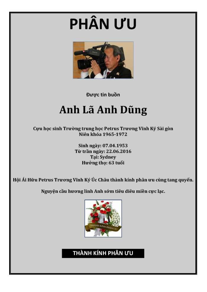 Phan Uu - La Anh Dung - Hoi Petrus Ky