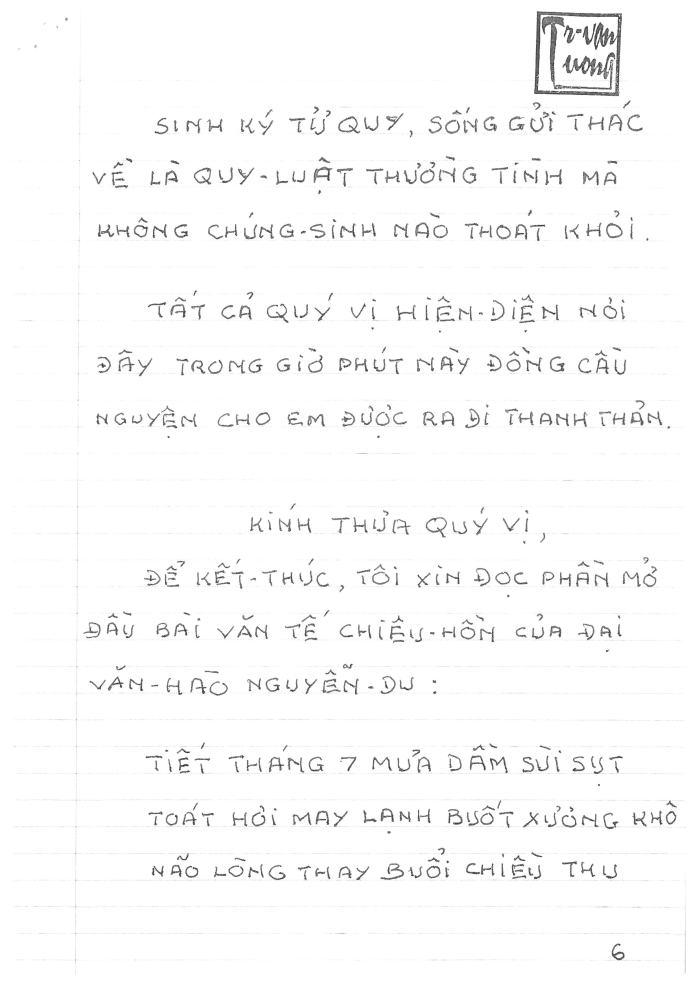 Điếu văn đưa tiển Lã Anh Dũng_6