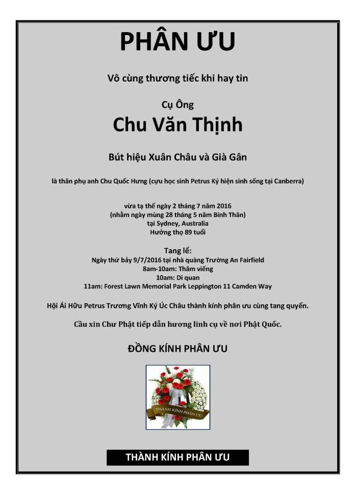 Phan Uu - Chu Văn Thịnh