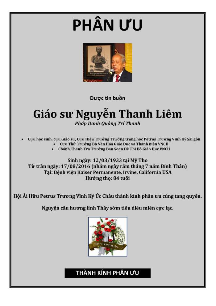 Phan Uu - GS Nguyen Thanh Liem