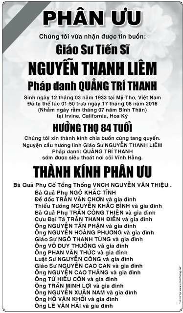 PhanUu-GSTSNguyenThanhLiem-BaTTNguyenVanThieu