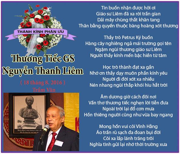 Thuong tiec GS Nguyen Thanh Liem