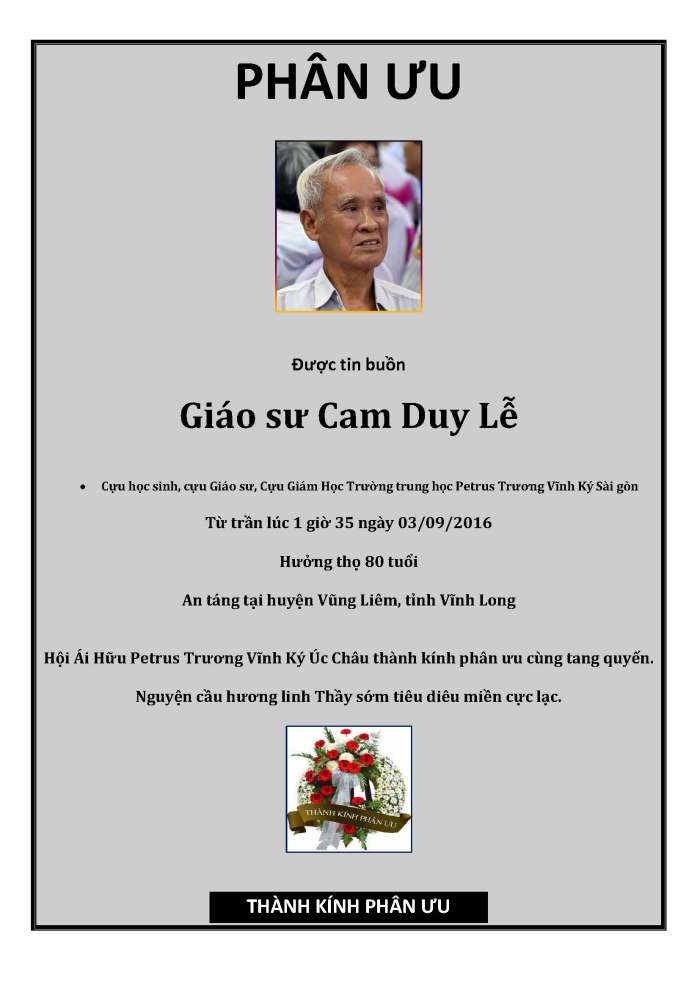 Phan Uu - GS Cam Duy Lễ