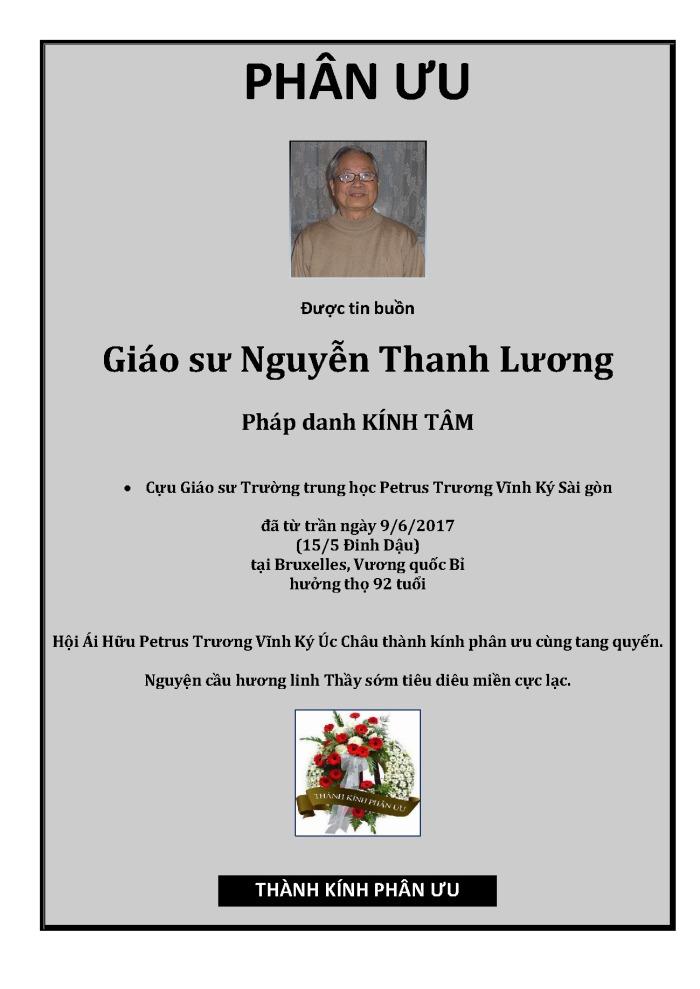 Phan Uu - GS Nguyen Thanh Luong