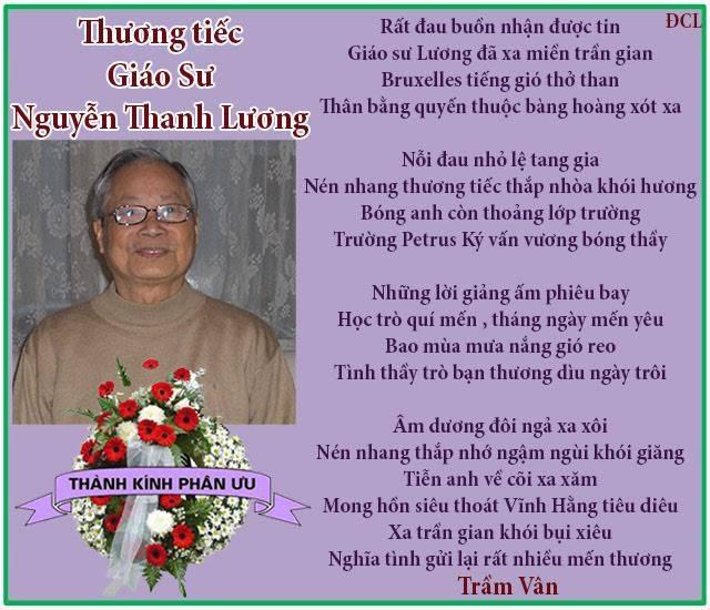 Thuong tiec GS Nguyen thanh Luong_Tram Van
