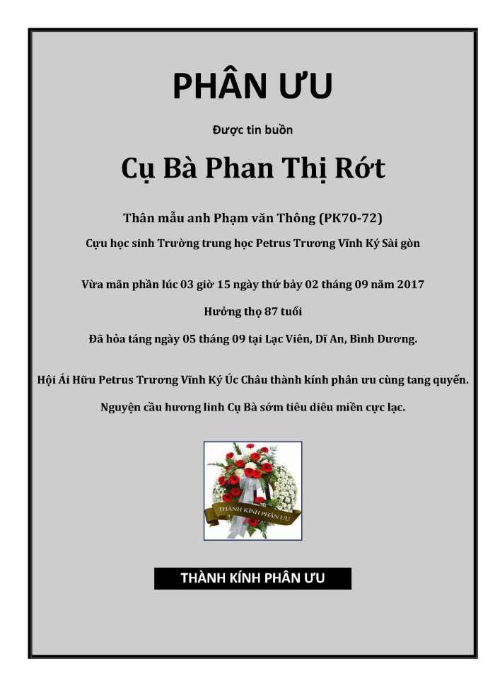 Phan Uu - Than mau Pham Van Thong