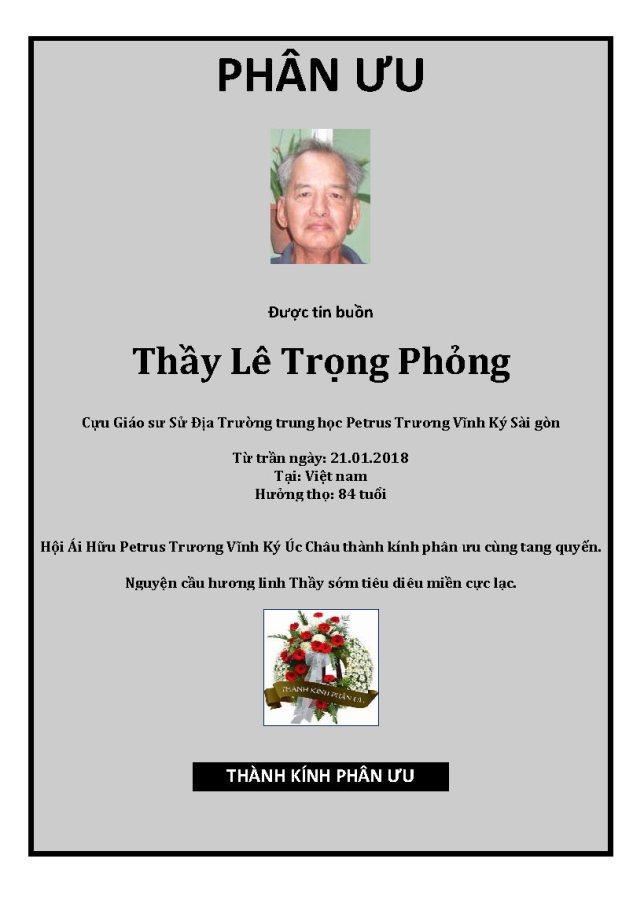 Phan Uu - GS Le Trong Phong
