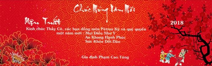 Thiep chuc tet Pham Cao Tung 2018