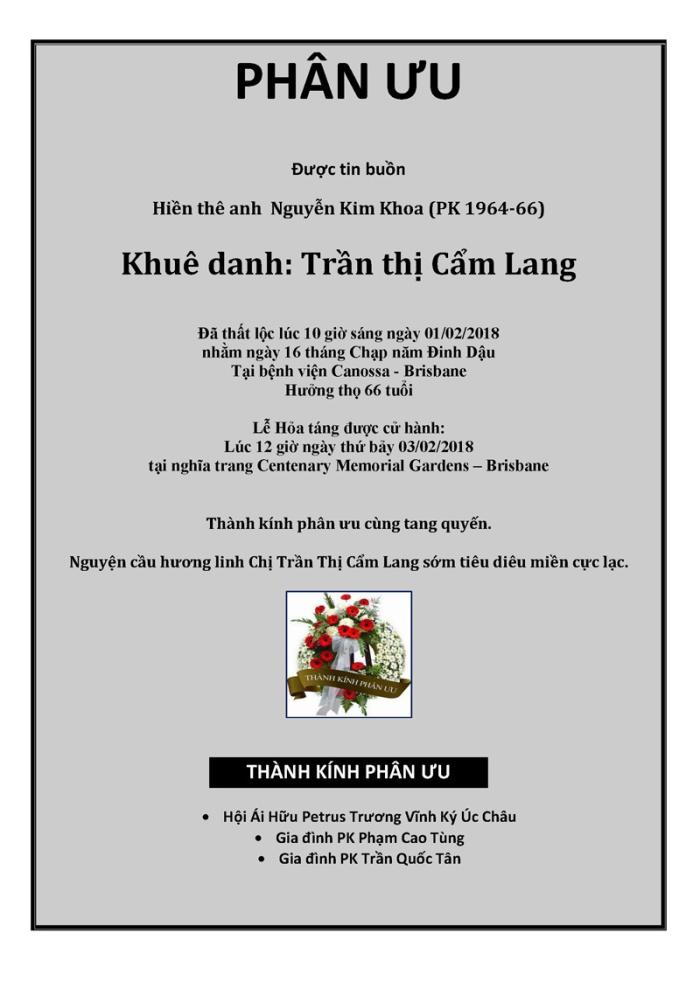 Phan Uu - Tran Thi Cam Lang