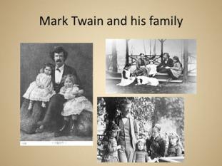 Mark Twain and his family