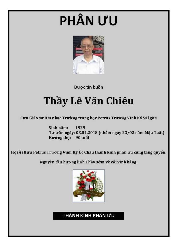 Phan Uu - GS Le Van Chieu