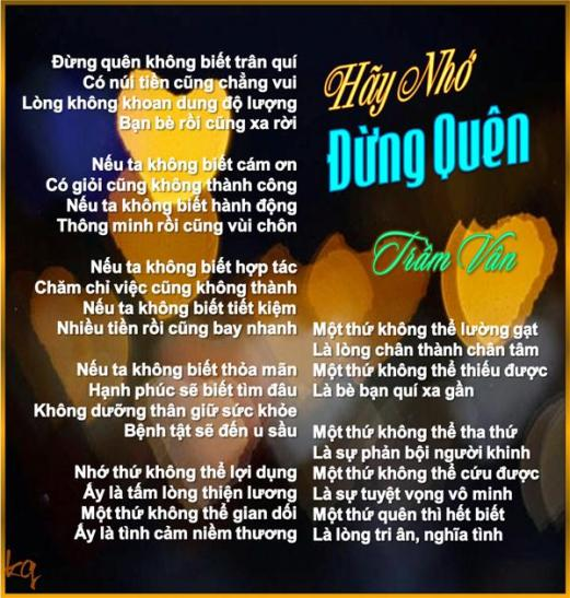 Hay NHo Dung Quen
