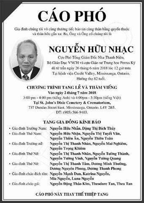 Nguyen Huu Nhac - Cao pho