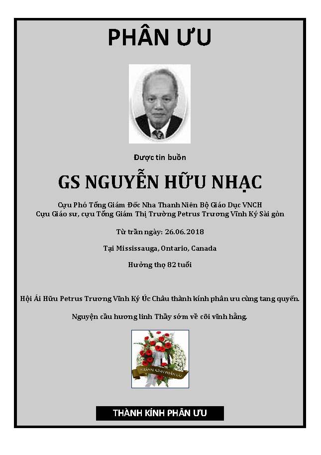 Phan Uu - GS Nguyen Huu Nhac