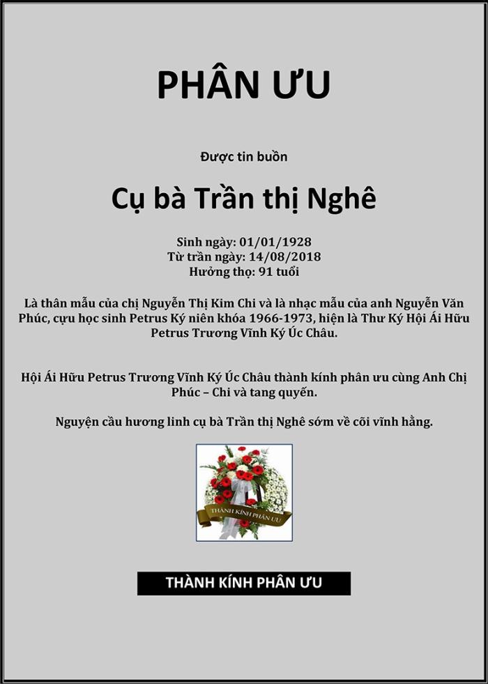 Phan Uu - Ba Tran Thi Nghe
