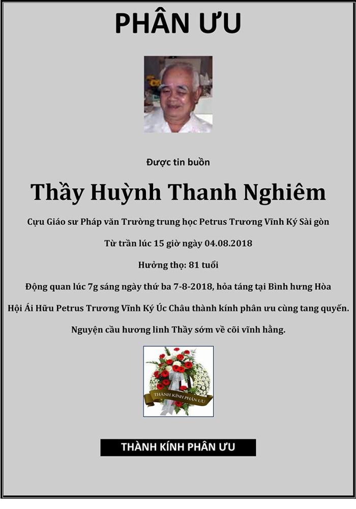 Phan Uu - GS Huynh Thanh Nghiem