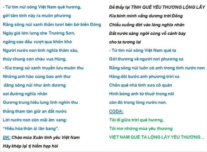 VietNamQueHuongLongLay-NguyenVanDong-lyrics