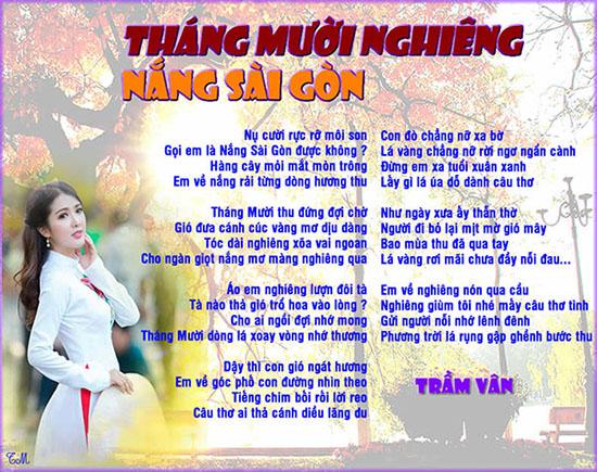 Thang 10 nghieng nang Saigon