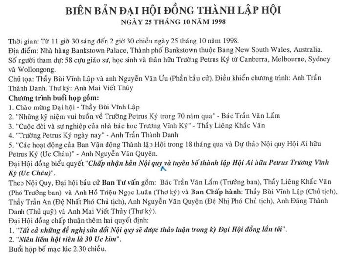 Bien ban dai hoi dong thanh lap Hoi