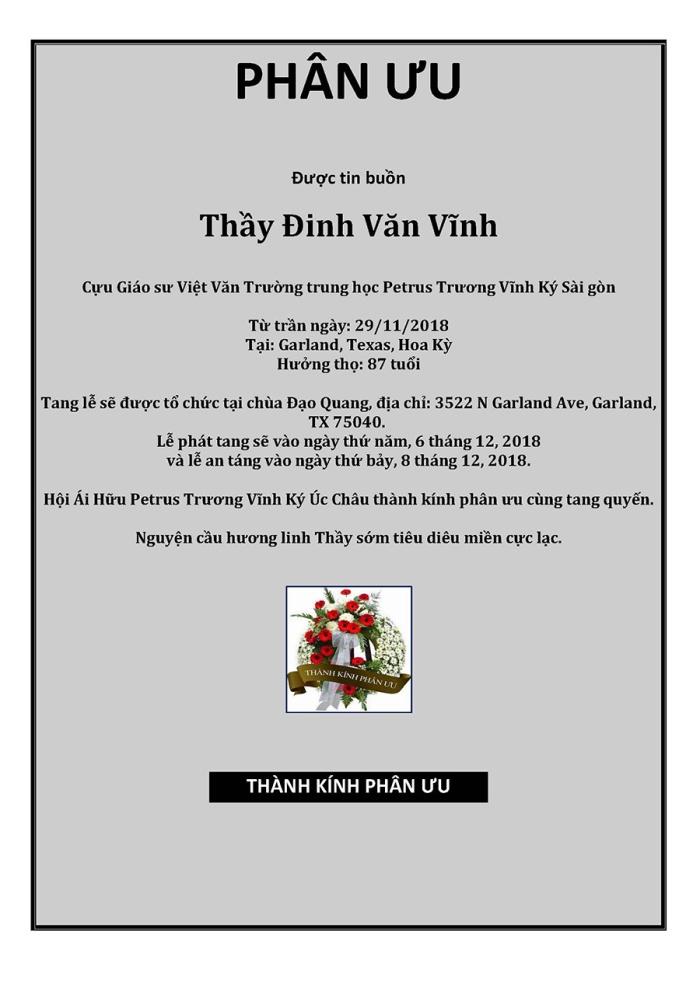 Phan Uu - GS Dinh Van Vinh
