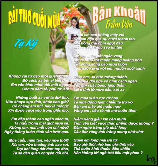 Bai Tho Cuoi Mua& Ban Khoan ___ TL & TV