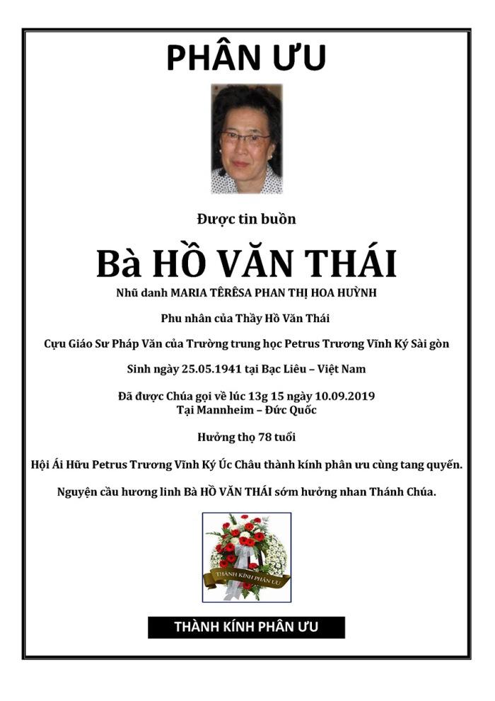Phan Uu - Ba Ho Van Thai