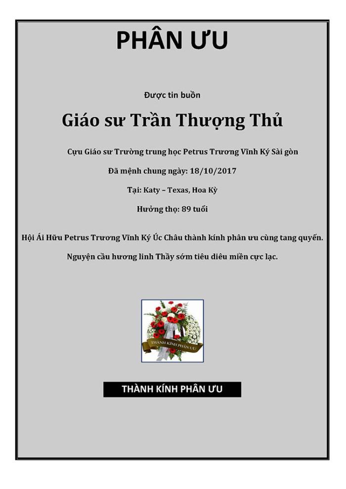 Phan Uu - GS Tran Thuong thu
