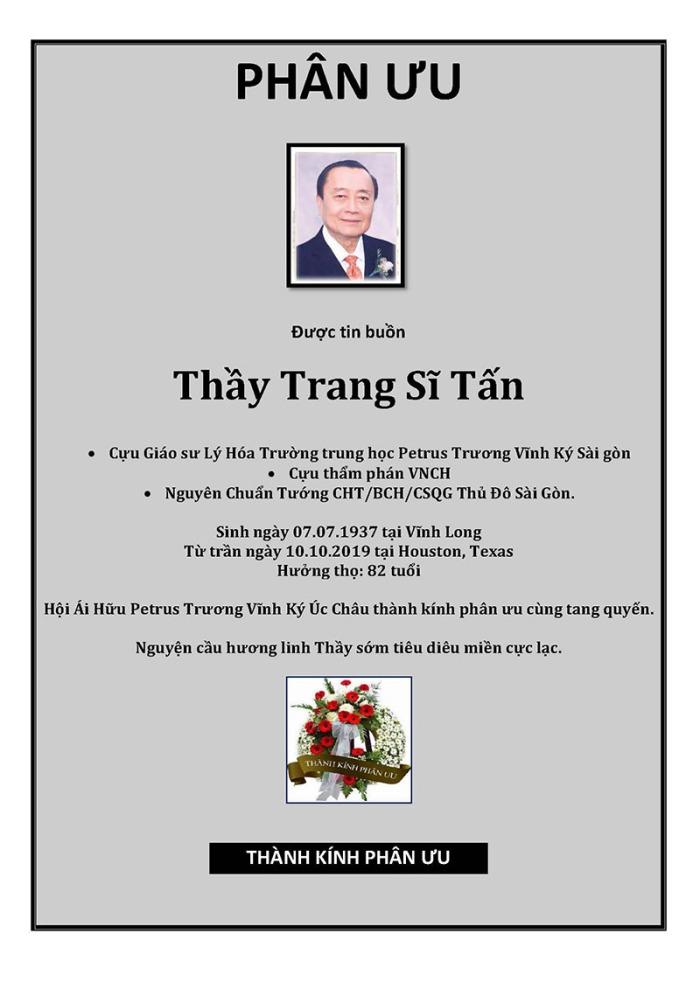 Phan Uu - GS Trang Si Tan