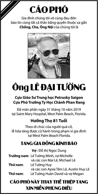GS Le Dai Tuong - Cao pho