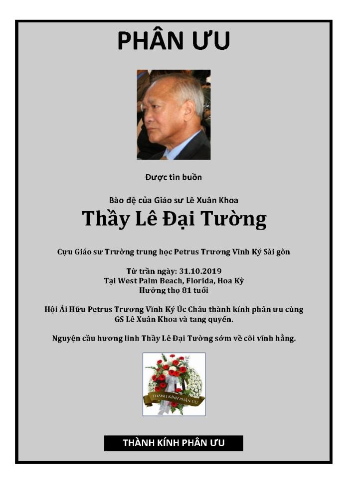 Phan Uu - GS Le Dai Tuong