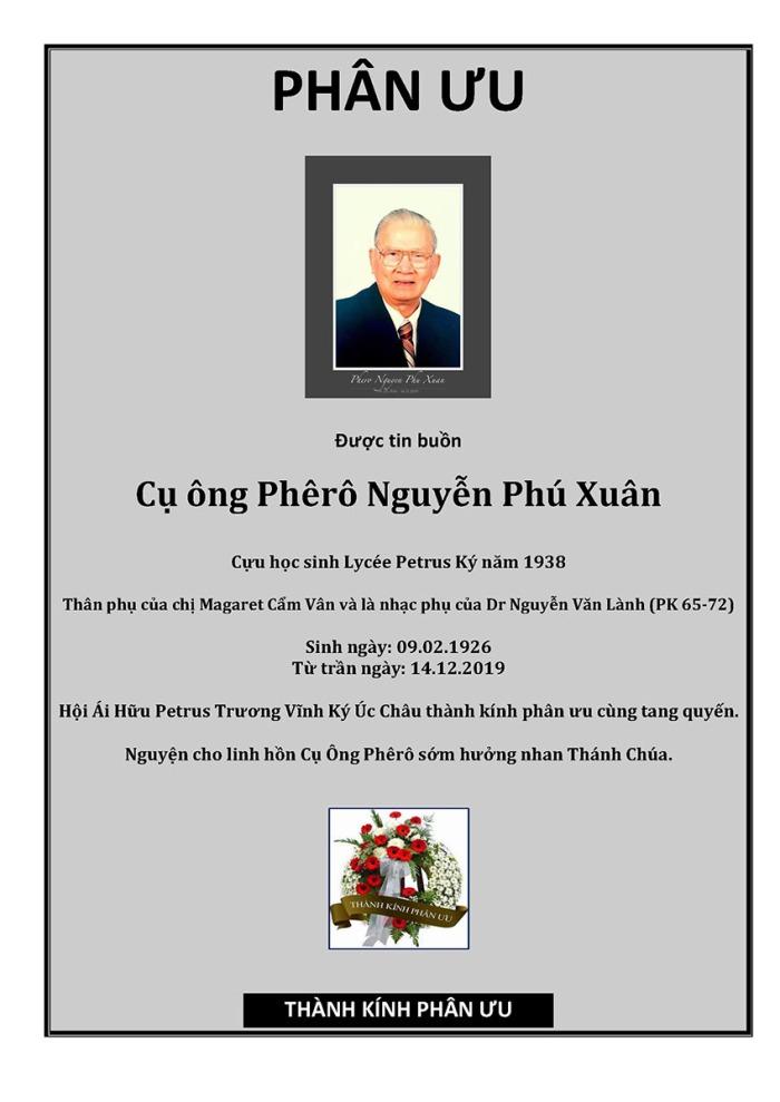 Phan Uu - Phero Nguyen Phu Xuan