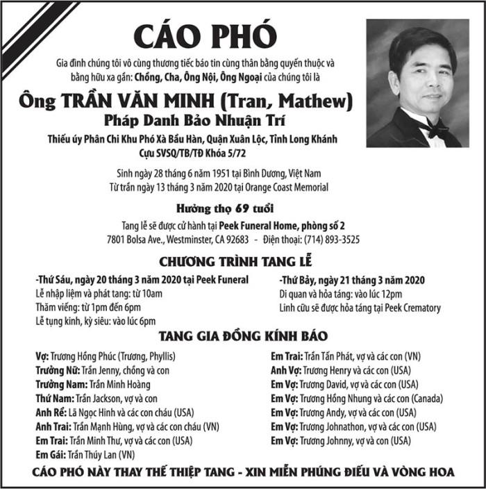 Cáo Phó Trần Văn Minh