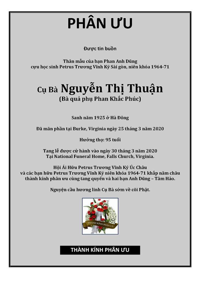 Phan Uu -Cu ba Nguyen Thi Thuan