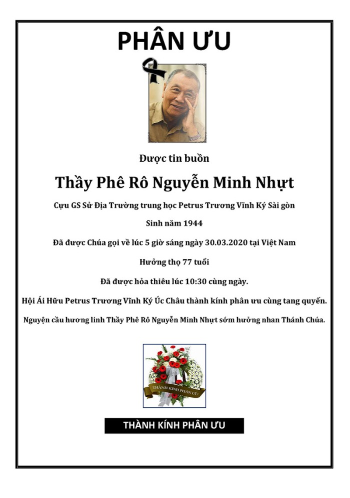 Phan Uu - GS Nguyen Minh Nhut