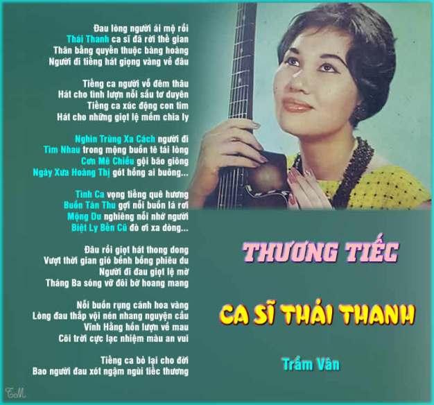 thuong tiec ca si Thai Thanh