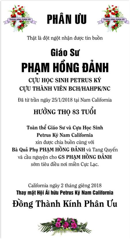 GS Pham Hong Danh - Phan Uu