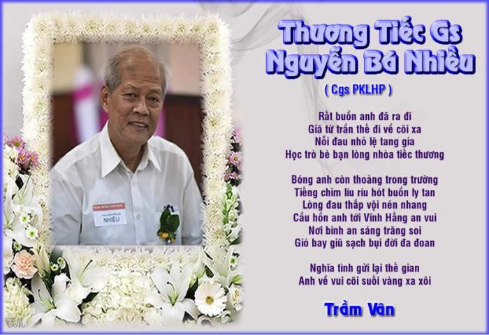 Thuong Tiec Gs Nguyen Ba Nhieu