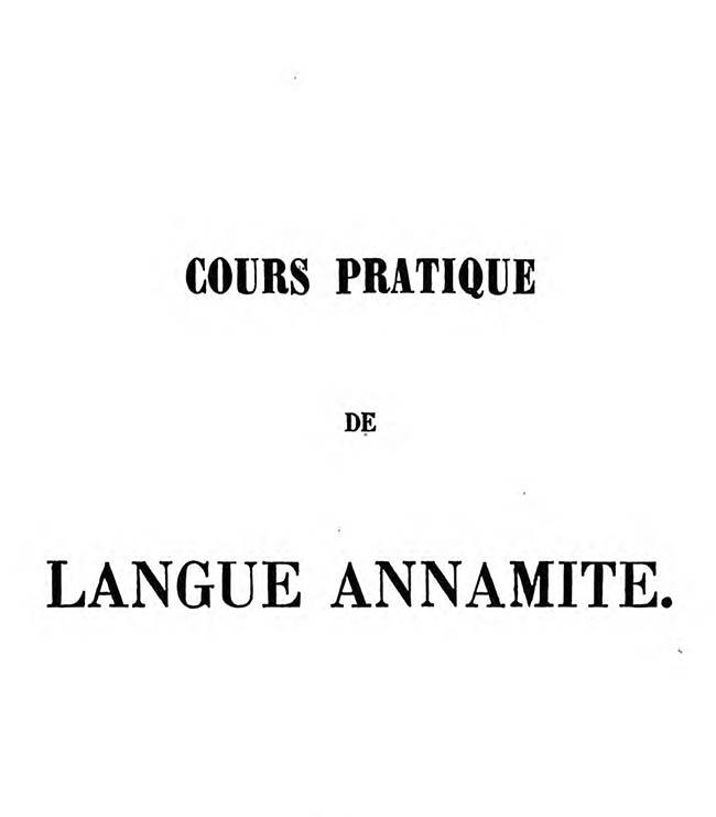 Cours pratique de langue annamite 02